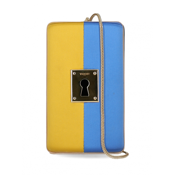 Pre-owned Vionnet Blue Silk Handbag