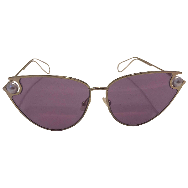 Christopher Kane Pink Metal Sunglasses