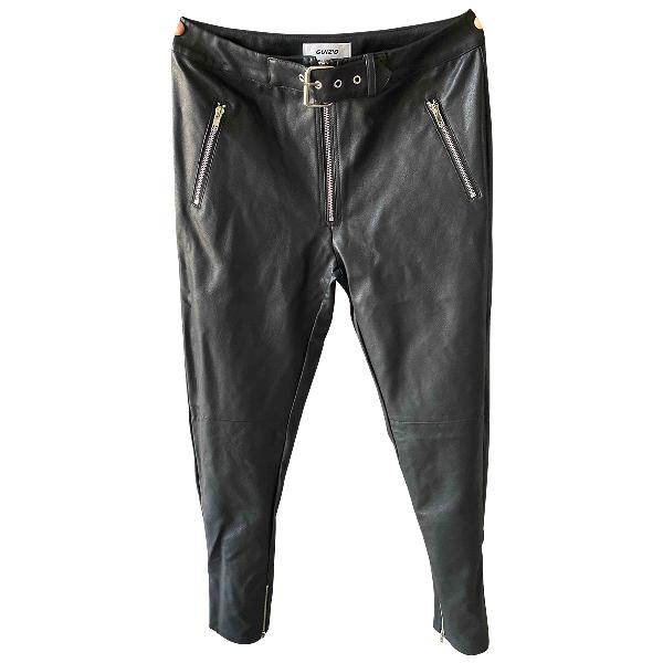 Danielle Guizio Black Leather Trousers