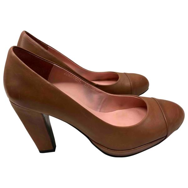 Tiger Of Sweden Brown Leather Heels