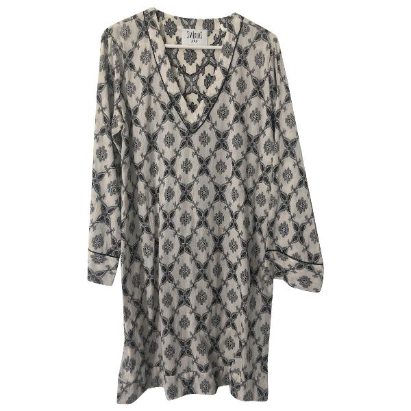 Swildens Ecru Cotton Dress