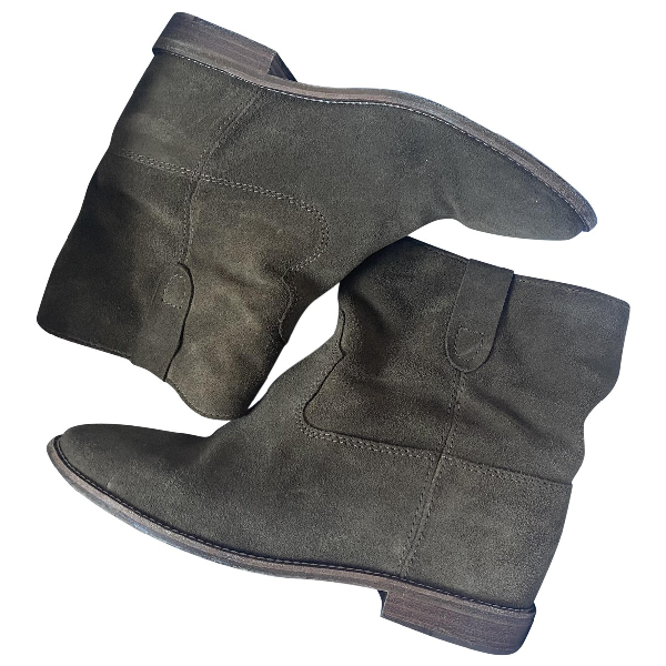 Isabel Marant Crisi  Brown Leather Ankle Boots