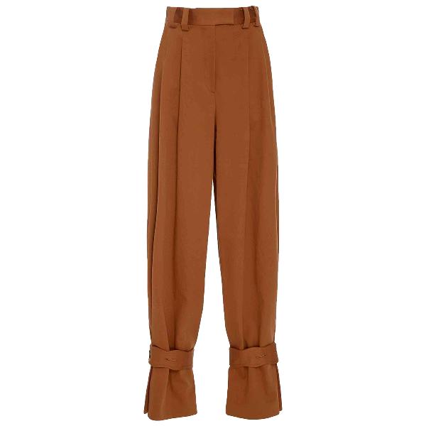 Diane Von Furstenberg Brown Cotton Trousers
