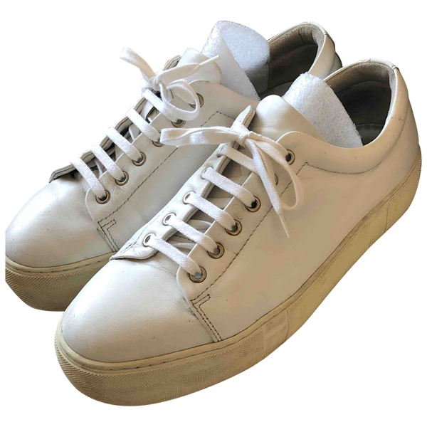 Hope White Leather Trainers