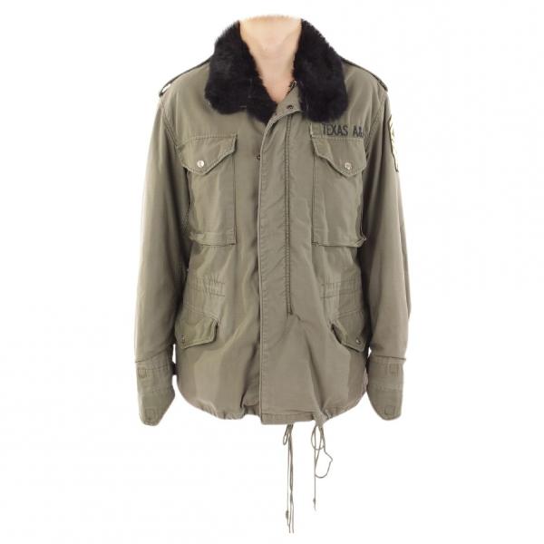 Barbed Khaki Leather Jacket