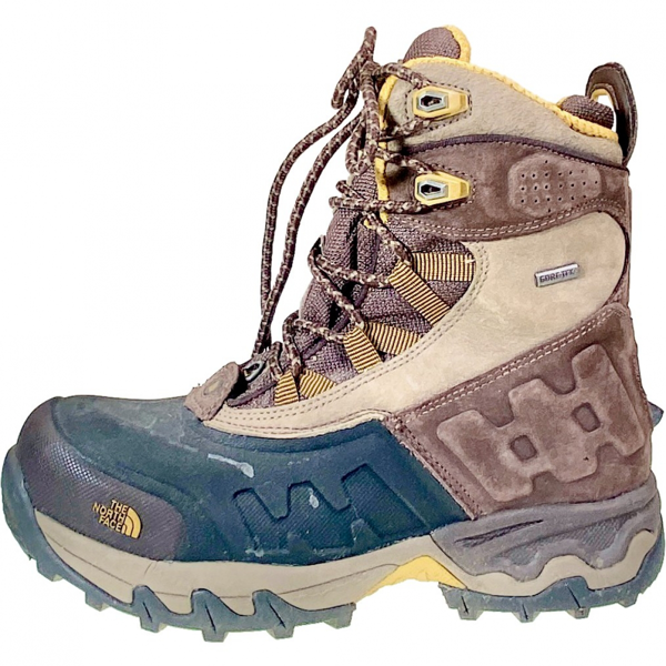 Pre-owned The North Face Khaki Rubber Boots