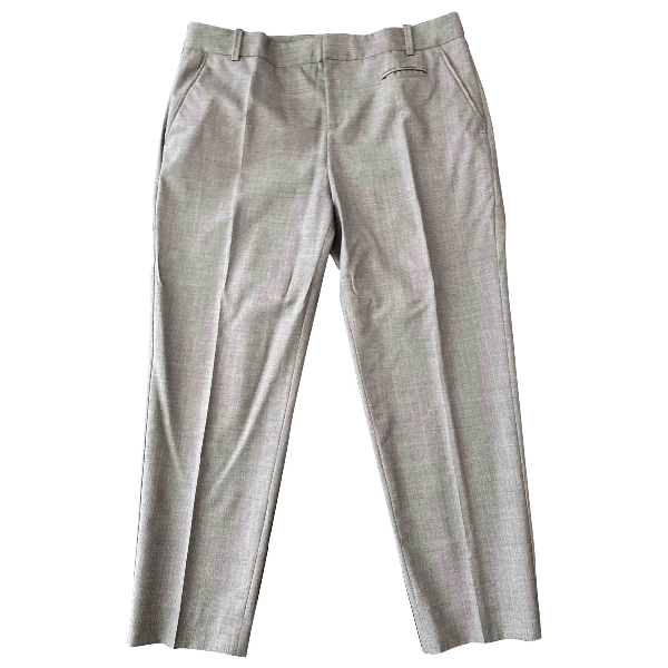 Comptoir Des Cotonniers Grey Cotton Trousers