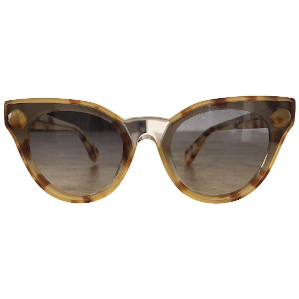 Christopher Kane Beige Sunglasses