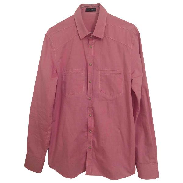 Tonello Pink Cotton Shirts