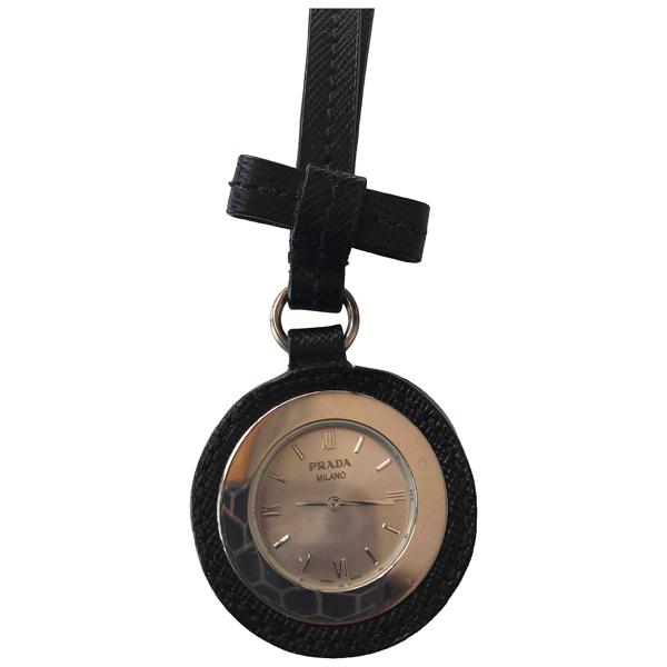 Pre-owned Prada Black Steel Watch