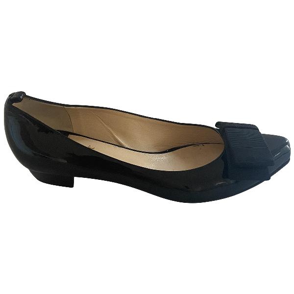 O Jour Black Patent Leather Ballet Flats