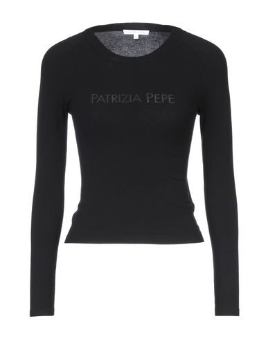 Patrizia Pepe Floral Rib Knitted Sweater In Black