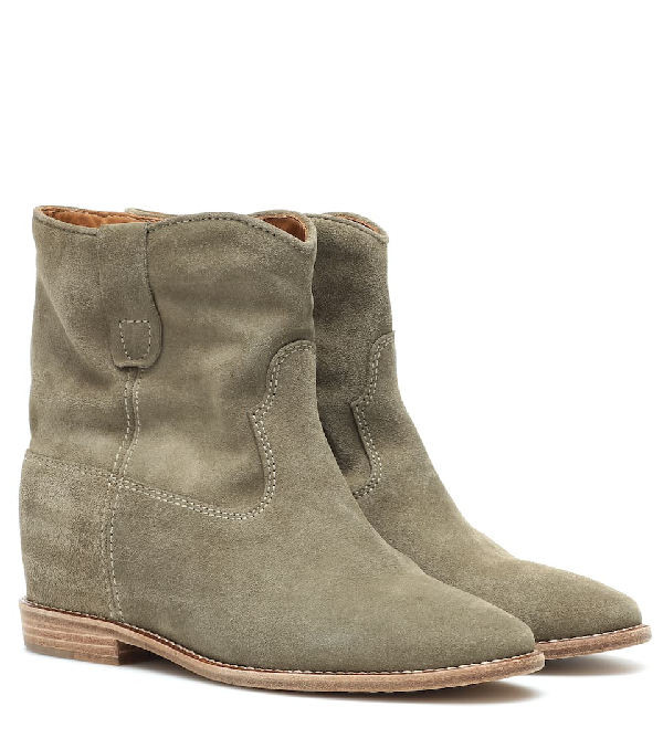 Isabel Marant Crisi Suede Ankle Boots In Neutrals