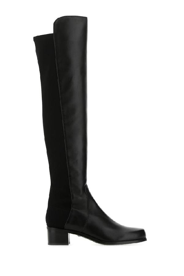 Stuart Weitzman Over The Knee Boots In Black