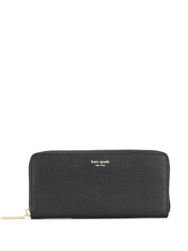 Kate Spade Spencer Zip Around Leather Continental Wallet In Black