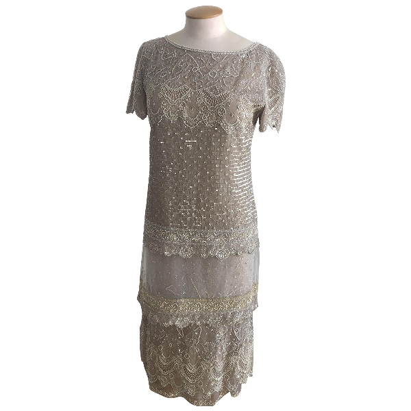 Valentino Grey Lace Dress
