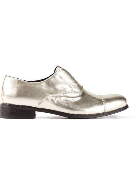 SociÉTÉ Anonyme Calf Leather Brogues In Platinum