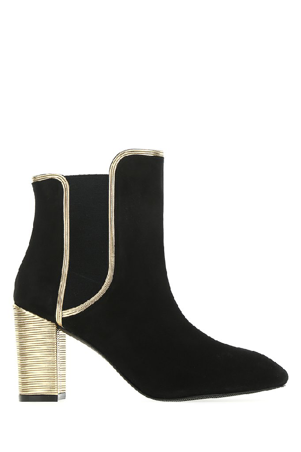 Stuart Weitzman Katherine Ankle Boots In Black