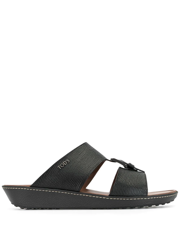 Tod's Buckled Cut-out Sandals In Black