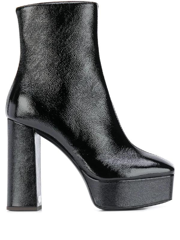 Giuseppe Zanotti Women's Square Toe High Heel Platform Booties In Black