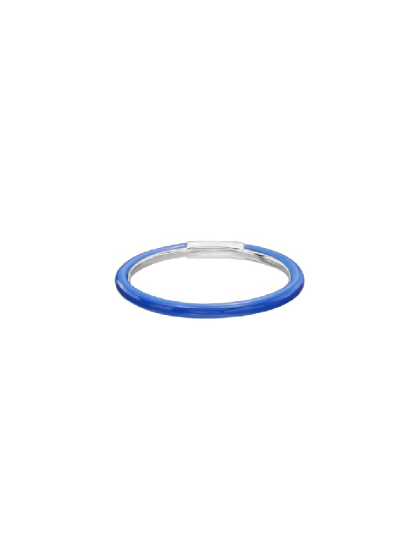 Nina Runsdorf Blue Enamel Ring In Not Applicable