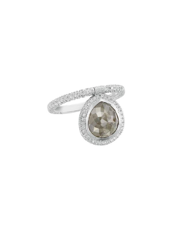 Nina Runsdorf Organic Gray Diamond Flip Ring In Not Applicable