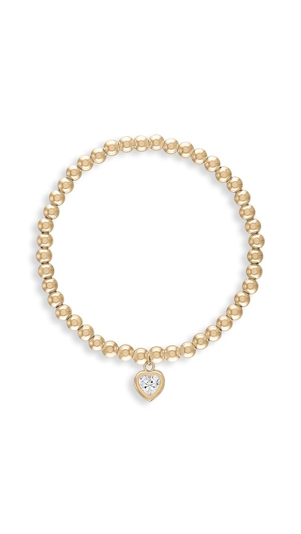 Alexa Leigh 4mm All My Heart Gold Bracelet In Yellow Gold