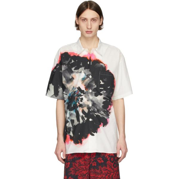 Alexander Mcqueen Printed Cotton-poplin Shirt In 9060ivrymix
