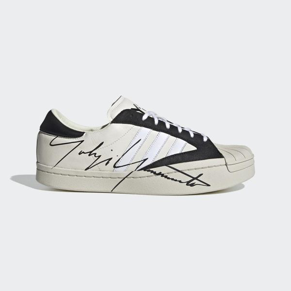 Y-3 Black And White Leather Yohji Star Sneakers