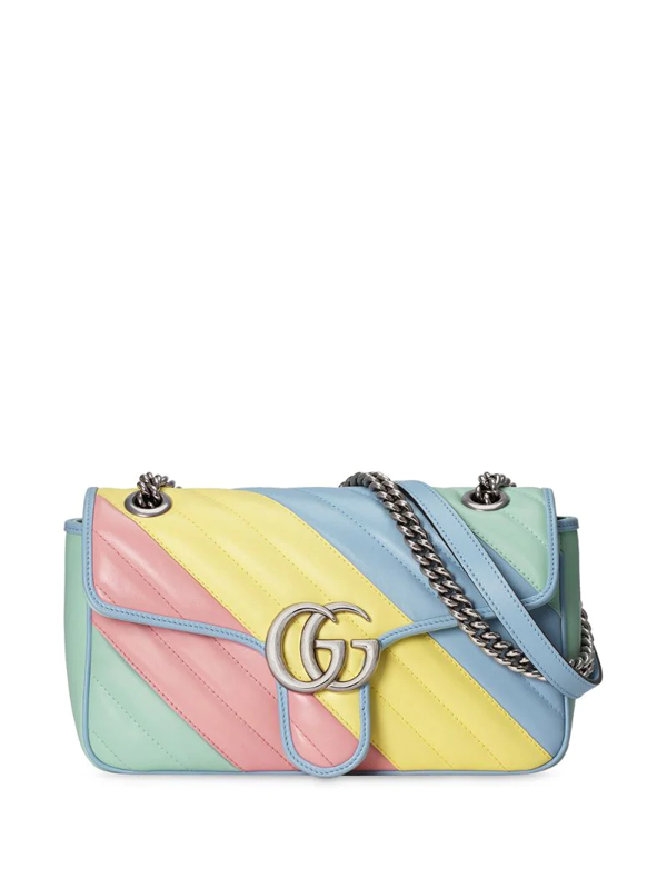Gucci Small Gg Marmont Shoulder Bag In Yellow