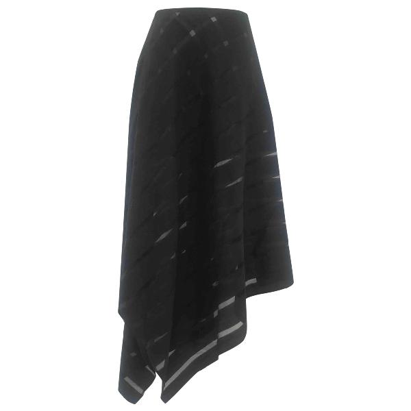 Sid Neigum Black Wool Skirt