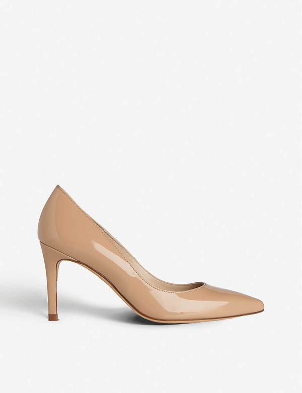 Lk Bennett Floret Pointed Patent-leather Courts In Bei-trench