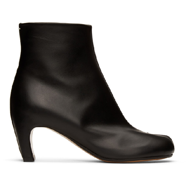 Maison Margiela 60mm Tabi Leather Ankle Boots In T8013 Black