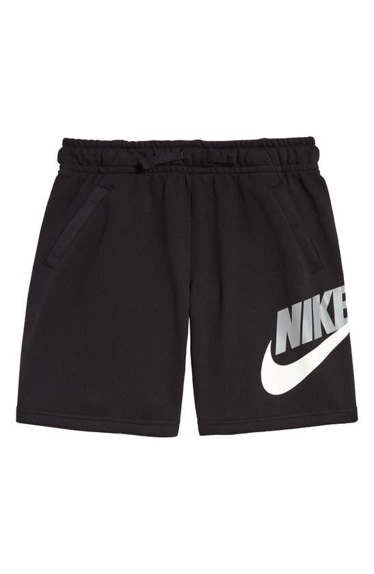 Nike Sportswear Kids' Club Fleece Shorts (little Boy) In Football Grey/ Obsidian Mist