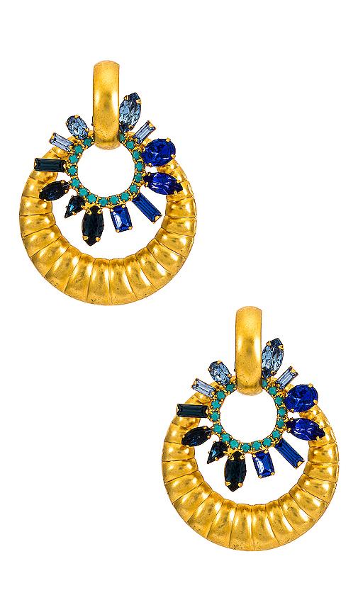 Elizabeth Cole Isolde Earrings In Sapphire