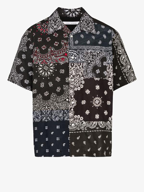 Children Of The Discordance Vintage Bandana Print Cotton Shirt In Black