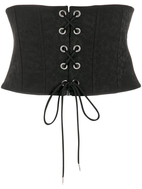 Pinko Wide Corset Belt In Black
