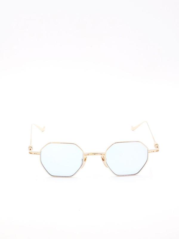 Chrome Hearts Geometric Frame Sunglasses In Gold