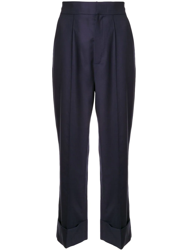 Dice Kayek Pleated Front Trousers In Blue