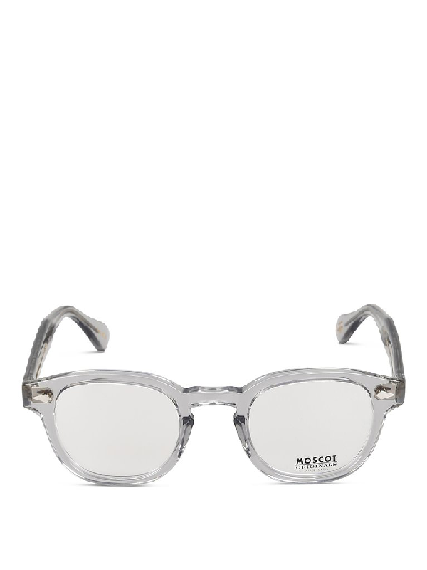 Moscot Lemtosh Square Frame Sunglasses In Grey