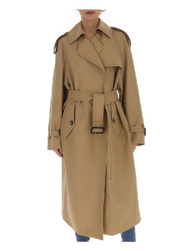 Marni Belted Trench Coat In Brown