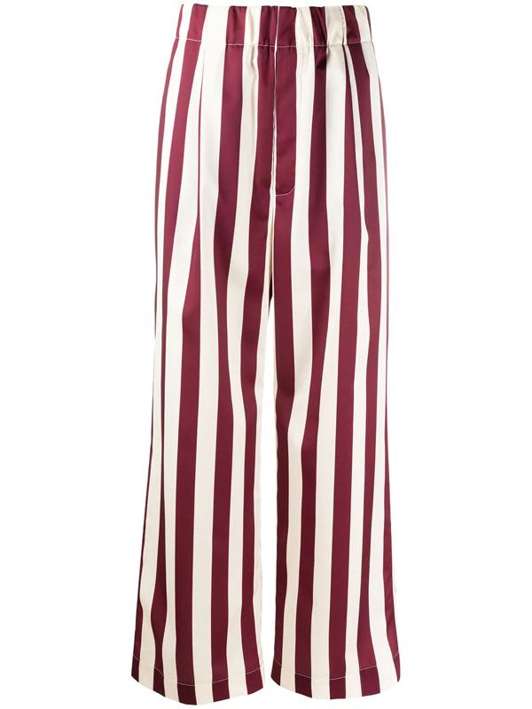 Jejia Striped Wide Leg Trousers In Multicolor