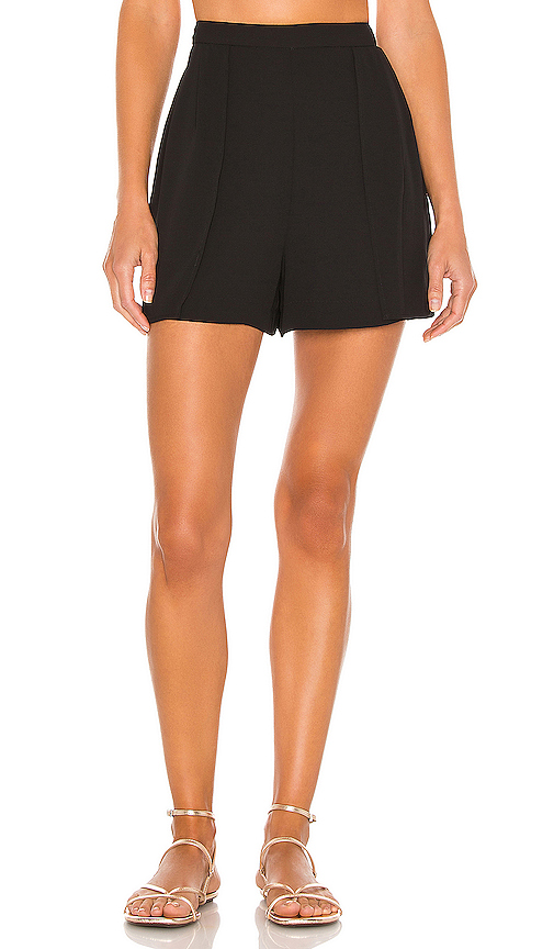 Bcbgmaxazria Silk Georgette Shorts In Black
