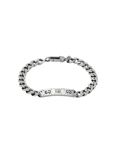 Gucci Men's Ghost Sterling Silver Bar Bracelet