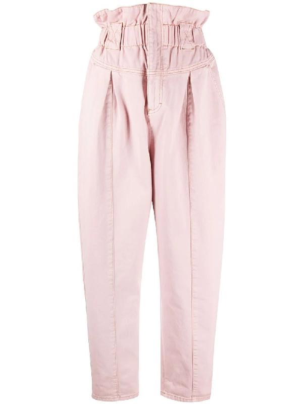 Fendi Light Pink High-waisted Pants