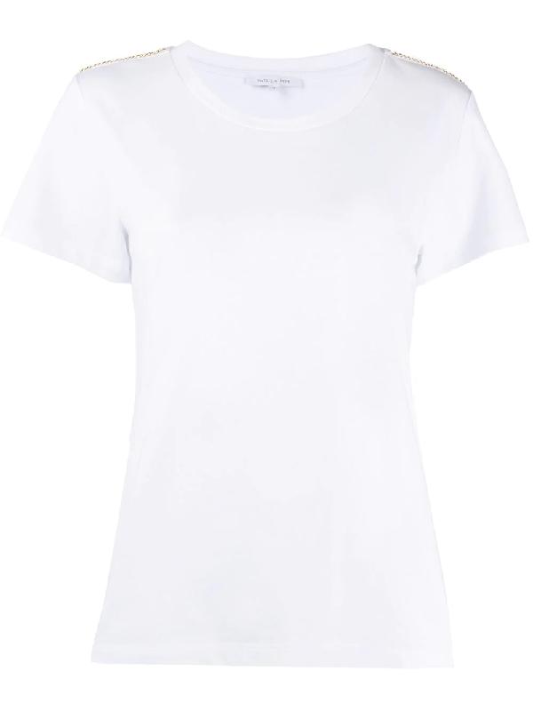 Patrizia Pepe Chain Detailed T-shirt In White