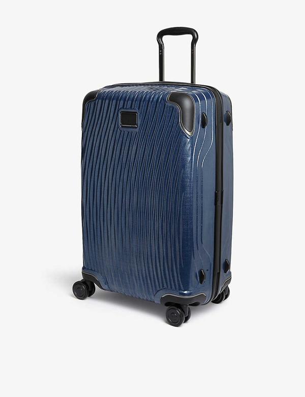 Tumi Latitude Short Trip Packing Four-wheel Suitcase 68cm In Navy