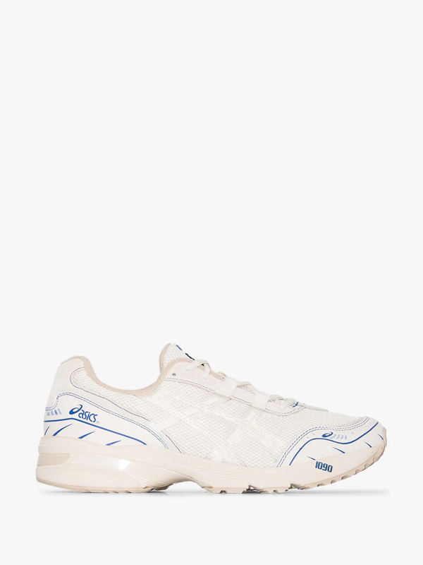 Asics X Above The Clouds White Gel-1090 Sneakers In Blue
