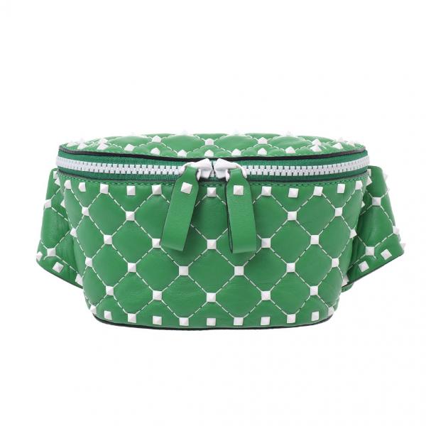Valentino Garavani Green Leather Clutch Bag