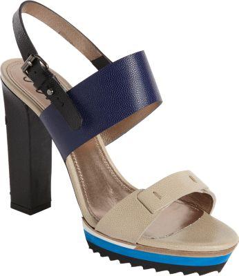 Lanvin Colorblock Slingback Sandal In Beige